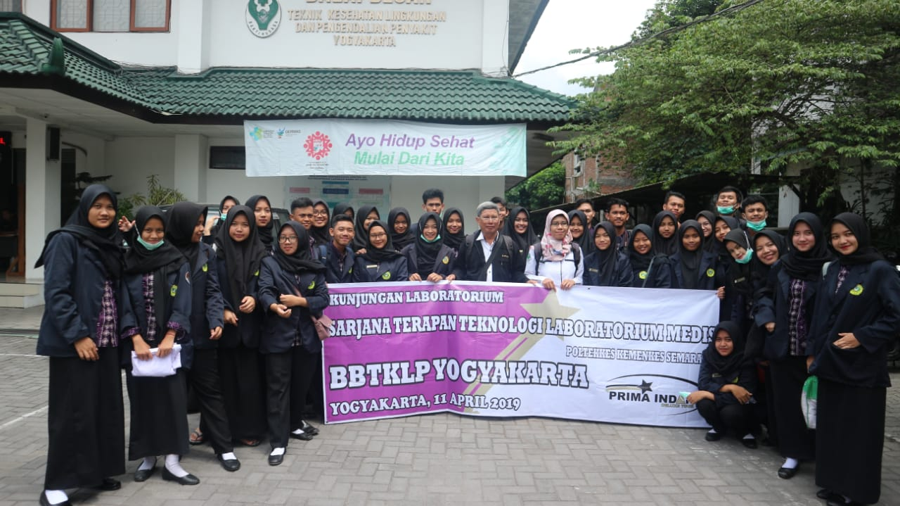 Kunjungan Mahasiswa Sarjana Terapan Teknologi Laboratorium Medis di BBTKLPP Yogyakarta, pada hari Kamis, 11 April 2019